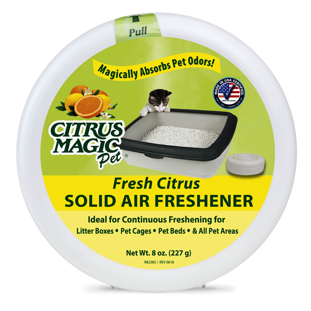 Citrus Magic Solid Air Freshener – Pet – Fresh Citrus