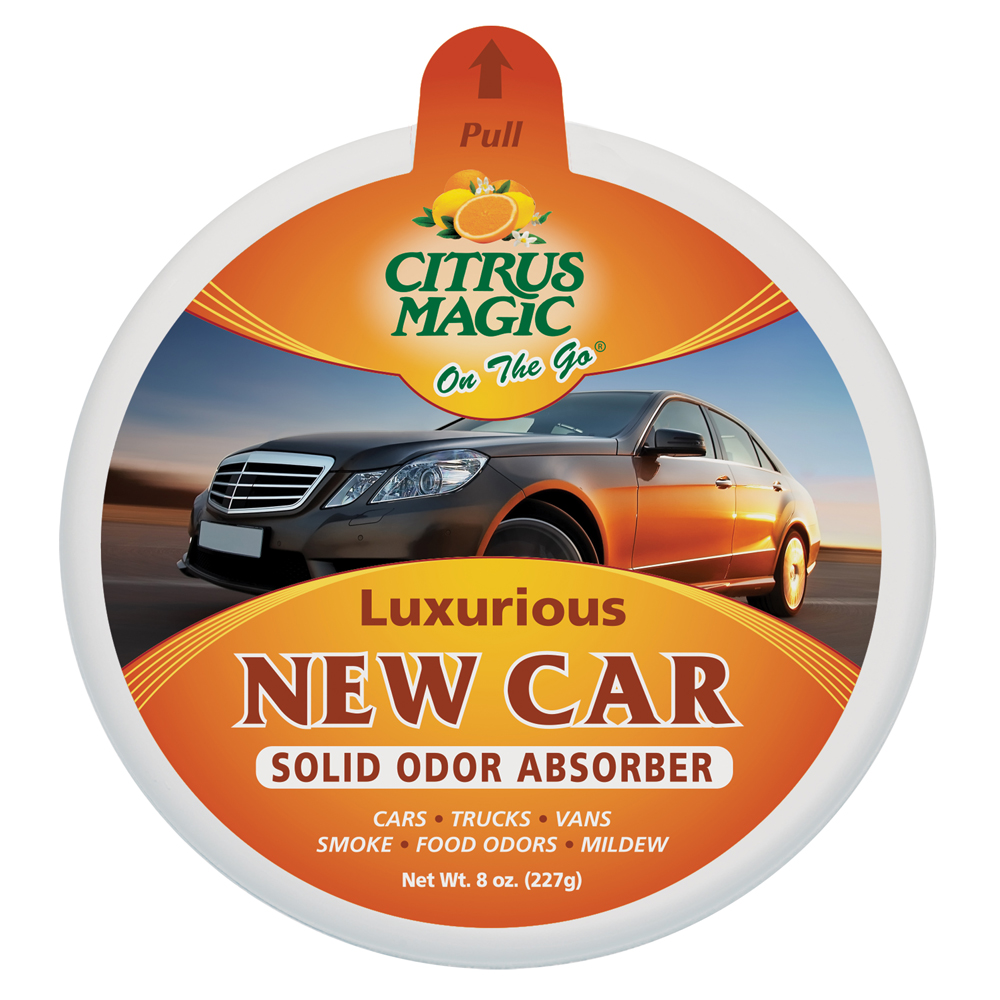 Citrus Magic Solid Air Freshener – On The Go – Luxurious New Car
