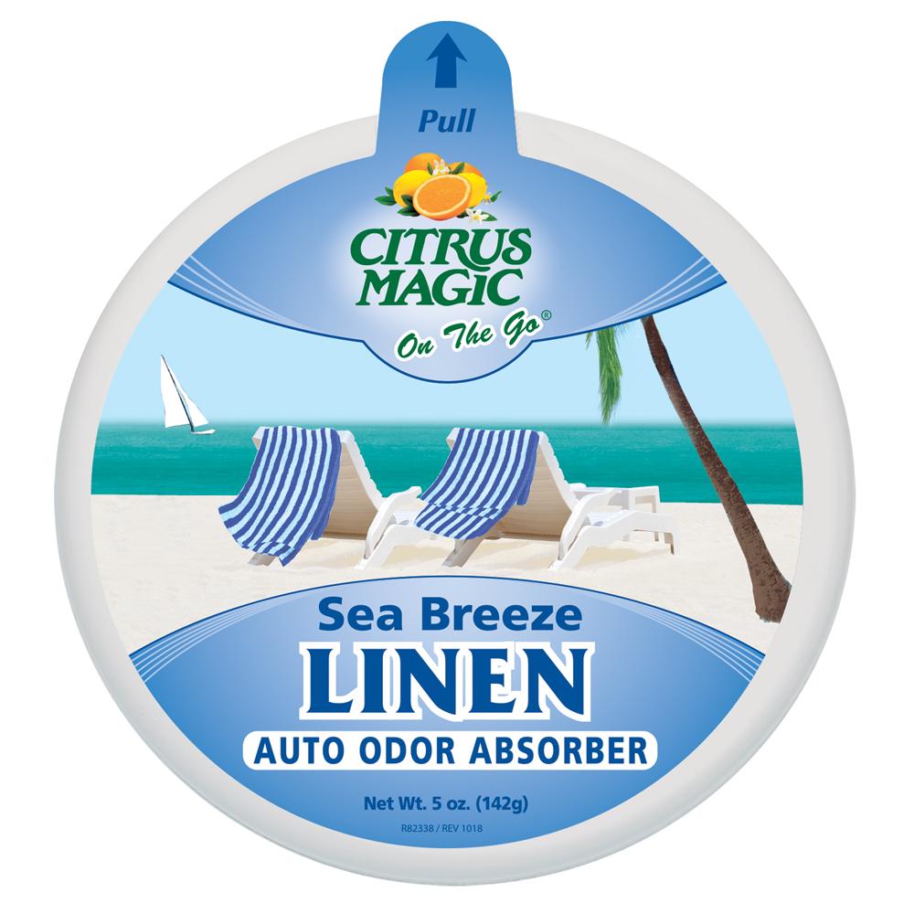 Citrus Magic Solid Air Freshener – On The Go – Sea Breeze Linen